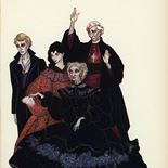 1934_majeska_7gothic_tales_5.5x8.5_12w, Seven Gothic Tales, Madame Majeska, Majeska, Lithograph, Gallery East, Gallery East Network