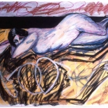 ariana1_91_28x38_pastel, Al Ford, Female Nudes, Ford, Gallery East, Gallery East Network