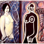 ariana2_91_34x44_mixed_media,Al Ford, Female Nudes, Ford, Gallery EastAl Ford, Female Nudes, Ford, Gallery East, Gallery East Network