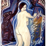ariana4_92_40x48_mixed_media, Al Ford, Female Nudes, Ford, Gallery EastAl Ford, Female Nudes, Ford, Gallery East, Gallery East Network