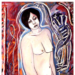 ariana6_92_30x40_mixed_media, Al Ford, Female Nudes, Ford, Gallery EastAl Ford, Female Nudes, Ford, Gallery East, Gallery East Network