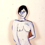 ariana_92_16x46_oil_wood, Al Ford, Female Nudes, Ford, Gallery EastAl Ford, Female Nudes, Ford, Gallery East, Gallery East Network