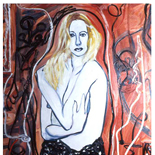 tammy1_92_30x40_mixed_media, Al Ford, Female Nudes, Ford, Gallery EastAl Ford, Female Nudes, Ford, Gallery East, Gallery East Network
