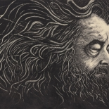 01_artem_mirolevich_prophet_w, Prophet, Artem Mirolevich, 2015, Etching, Mirolevich, Gallery East, Gallery East Boston