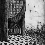 11_artem_mirolevich_landing_w, Landing Artem Mirolevich, 2016, Etching, Mirolevich, Gallery East, Gallery East Boston