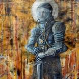 22_artem_mirolevich_cosmic_warrior_w, Cosmic Warrior, Artem Mirolevich, 2015, Oil on Canvas, Mirolevich, Gallery East, Gallery East Boston