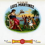 1902c_cigar_luis_martinez_7x9_dlw, Luis Martinez, Martinez Havana Co, Cuban Cigar Labels, Lithograph, 1902, Gallery East, Gallery East Network