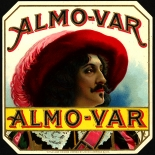 1910c_cigar_almo_var_4.25x4.25_dlw, Almo Var, John C Herman & Co, Cuban Cigar Labels, Lithograph, 1910c, Gallery East, Gallery East Network