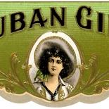 1910c_cigar_cuban_girl_2.25x5.5_dlw, Cuban Girl, Cuban Cigar Labels, Lithograph, 1910c, Gallery East, Gallery East Network