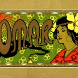 1910c_cigar_omar_3.5x5.25_dlw, Omar, Cuban Cigar Labels, Lithograph, 1910c, Gallery East, Gallery East Network