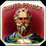 1910c_cigar_silver_prince_4.5x4.5_dlw, Silver Prince, Heywood, Strasser & Viogt Litho Co, Cuban Cigar Labels, Lithograph, 1910c, Gallery East, Gallery East Network