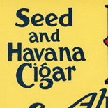 1920_cigar_las_vegas_sign_5x23_dlw, Las Vegas, East Prospect Cigar CO, Cuban Cigar Labels, Lithograph, 1920c, Gallery East, Gallery East Network