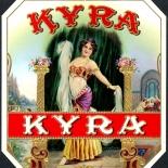 1920c_cigar_kyra_4.5x5_dlw, Kyra, Kyra Cigar Co, Cuban Cigar Labels, Lithograph, 1920c, Gallery East, Gallery East Network