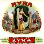 1920c_cigar_kyra_6.5x10_dlw, Kyra, Kyra Cigar Co, Cuban Cigar Labels, Lithograph, 1920c, Gallery East, Gallery East Network