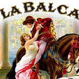 1920c_cigar_la_balca_4x4.5_dlw, La Balca, Calvert Lith, Cuban Cigar Labels, Lithograph, 1920c, Gallery East, Gallery East Network