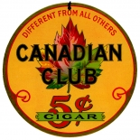 1930c_cigar_canadian_club_2xsign_7_dlw, Canadian Club, Moehle Lith, Lithograph, 1930c, Gallery East, Gallery East Network