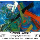 paola_soto_2007w, 2007,2007, Acrylic on canvas, Living Large, October, Paola Savarino, Savarino, Gallery East, Gallery East Boston