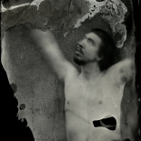 07_8820e57076b05889-wetplate023_7, Untitled 7, Collodion Autoportrait, Daniel Baird-Miller, 2013, Tintype, Gallery East, Gallery East Network