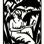 daskunstblatt_002_schrimpf_w, Das Kunstblatt, Schrimpf, 1917, Woodcut, Paul Westheim, German Expressionism, Plates, Gallery East, Gallery East Network