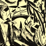 daskunstblatt_004_eberz_w, Das Kunstblatt, Eberz, Lithograph, 1917, Paul Westheim, German Expressionism, Plates, Gallery East, Gallery East Network