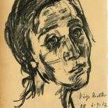 daskunstblatt_010_kokschka_w, Das Kunstblatt, Kokoschka, Lithograph, 1917, Paul Westheim, German Expressionism, Plates, Gallery East, Gallery East Network