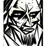 daskunstblatt_011_lange_w, Das Kunstblatt, Lange, Lithograph, 1917, Paul Westheim, German Expressionism, Plates, Gallery East, Gallery East Network