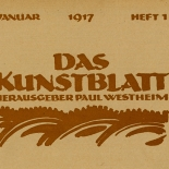 daskunstblatt_01_cover_w, Das Kunstblatt, 1917, Paul Westheim, German Expressionism, Plates, Gallery East, Gallery East Network