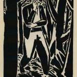 1924_masereel_bk_pg17_dlw, Die Passion Eines Menschen, Page 17, Frans Masereel, 1924, Woodcut, Gallery East, Galley East Network