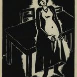 1924_masereel_bk_pg1_dlw, Die Passion Eines Menschen, Page 1, Frans Masereel, 1924, Woodcut, Gallery East, Galley East Network
