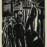 1924_masereel_bk_pg20_dlw, Die Passion Eines Menschen, Page 20, Frans Masereel, 1924, Woodcut, Gallery East, Galley East Network