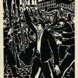 1924_masereel_bk_pg22_dlw, Die Passion Eines Menschen, Page 22, Frans Masereel, 1924, Woodcut, Gallery East, Galley East Network