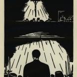 1924_masereel_bk_pg24_dlw, Die Passion Eines Menschen, Page 24, Frans Masereel, 1924, Woodcut, Gallery East, Galley East Network