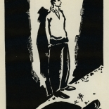 1924_masereel_bk_pg25_dlw, Die Passion Eines Menschen, Page 25, Frans Masereel, 1924, Woodcut, Gallery East, Galley East Network