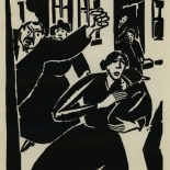 1924_masereel_bk_pg2_dlw, Die Passion Eines Menschen, Page 2, Frans Masereel, 1924, Woodcut, Gallery East, Galley East Network