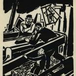 1924_masereel_bk_pg5_dlw, Die Passion Eines Menschen, Page 5, Frans Masereel, 1924, Woodcut, Gallery East, Galley East Network