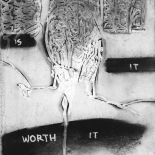 bk1_0011_w, Is It Worth It?..., Eric Kluin, Kluin, Shadows, Paint & Charcoal, 1995, Gallery East, Gallery East Network