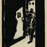 1924_masereel_bk_pg10_dlw, Die Passion Eines Menschen, Page 10, Frans Masereel, 1924, Woodcut, Gallery East, Galley East Network