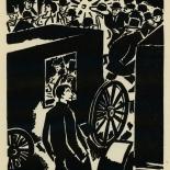 1924_masereel_bk_pg11_dlw, Die Passion Eines Menschen, Page 11, Frans Masereel, 1924, Woodcut, Gallery East, Galley East Network