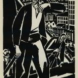 1924_masereel_bk_pg13_dlw, Die Passion Eines Menschen, Page 13, Frans Masereel, 1924, Woodcut, Gallery East, Galley East Network