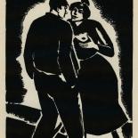 1924_masereel_bk_pg15_dlw, Die Passion Eines Menschen, Page 15, Frans Masereel, 1924, Woodcut, Gallery East, Galley East Network