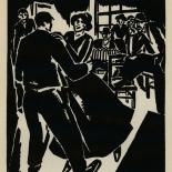 1924_masereel_bk_pg16_dlw, Die Passion Eines Menschen, Page 16, Frans Masereel, 1924, Woodcut, Gallery East, Galley East Network