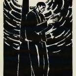 1924_masereel_bk_pg18_dlw, Die Passion Eines Menschen, Page 18, Frans Masereel, 1924, Woodcut, Gallery East, Galley East Network