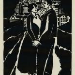 1924_masereel_bk_pg19_dlw, Die Passion Eines Menschen, Page 19, Frans Masereel, 1924, Woodcut, Gallery East, Galley East Network