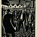 1924_masereel_bk_pg21_dlw, Die Passion Eines Menschen, Page 21, Frans Masereel, 1924, Woodcut, Gallery East, Galley East Network