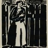 1924_masereel_bk_pg3_dlw, Die Passion Eines Menschen, Page 2, Frans Masereel, 1924, Woodcut, Gallery East, Galley East Network
