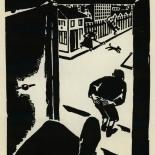 1924_masereel_bk_pg6_dlw, Die Passion Eines Menschen, Page 6, Frans Masereel, 1924, Woodcut, Gallery East, Galley East Network