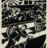 1924_masereel_bk_pg7_dlw, Die Passion Eines Menschen, Page 7, Frans Masereel, 1924, Woodcut, Gallery East, Galley East Network