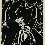 1924_masereel_bk_pg8_dlw, Die Passion Eines Menschen, Page 8, Frans Masereel, 1924, Woodcut, Gallery East, Galley East Network