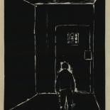 1924_masereel_bk_pg9_dlw, Die Passion Eines Menschen, Page 9, Frans Masereel, 1924, Woodcut, Gallery East, Galley East Network
