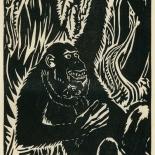 1939_masereel_noir_blanc_4.25x6.25_pl05_dlw, Du Noir au Blanc PL5, Frans Masereel, Masereel, 1939, Woodcut, Gallery East, Gallery East Network